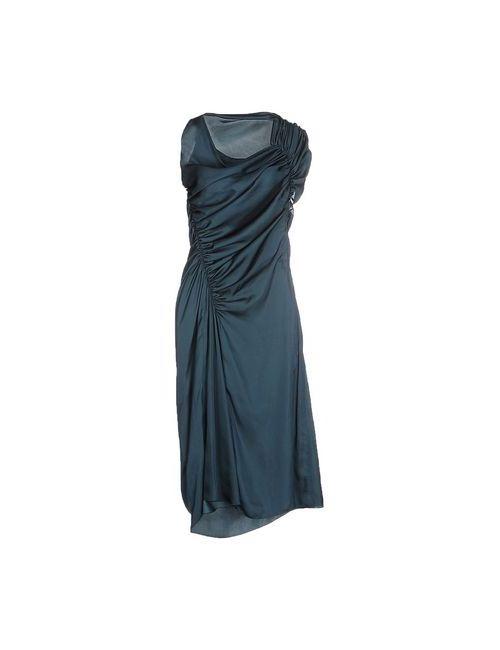 Lanvin | Женское Зелёное Платье До Колена