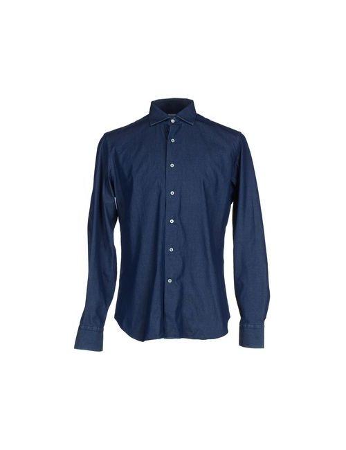 Alessandro Gherardeschi | Мужская Синяя Джинсовая Рубашка