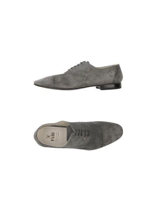 Fabi | Мужская Серая Обувь На Шнурках