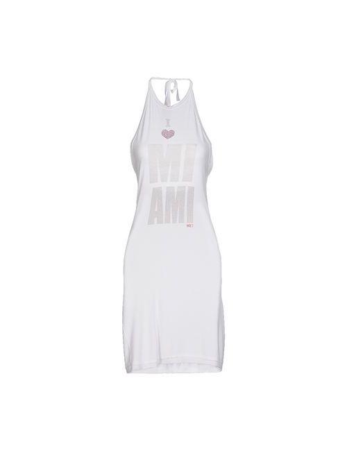 MET | Женское Белое Платье До Колена
