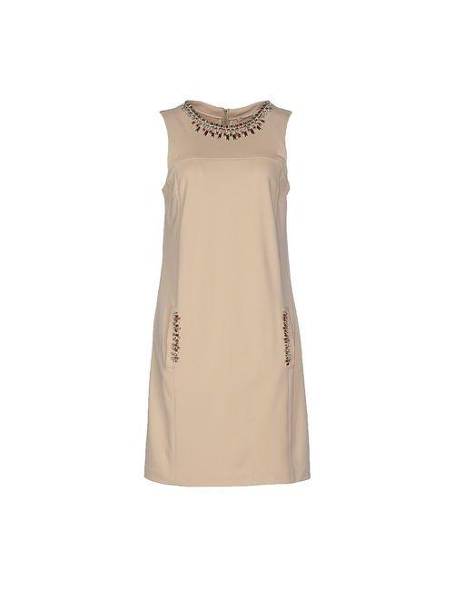 Fairly | Женское Бежевое Короткое Платье