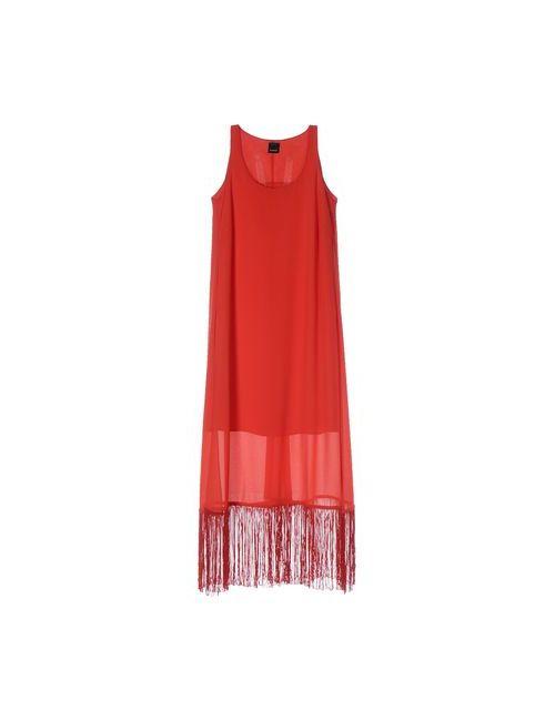 Pinko | Женское Красное Платье До Колена