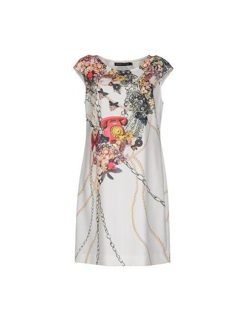 Gaowei+Xinzhan | Женское Слоновая Костящее Короткое Платье