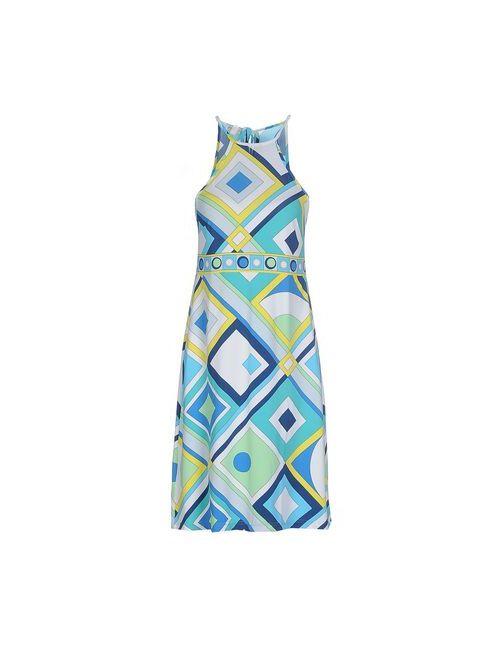 DOMANI | Женское Голубой Короткое Платье
