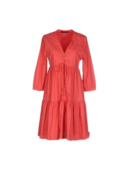 Twin-Set Simona Barbieri | Женское Розовое Короткое Платье