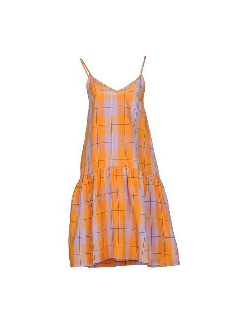 ERIKA CAVALLINI SEMICOUTURE   Женское Оранжевое Платье До Колена