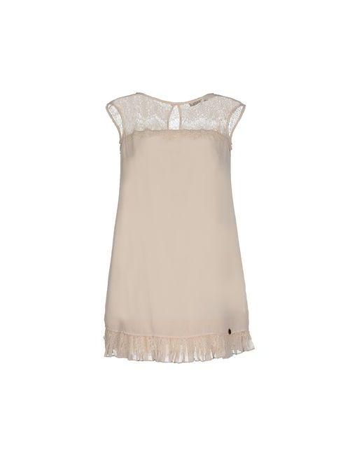 Mangano | Женское Слоновая Костящее Короткое Платье
