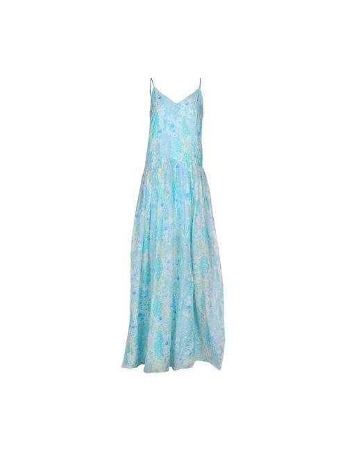 Matthew Williamson Escape   Женское Бирюзовое Длинное Платье
