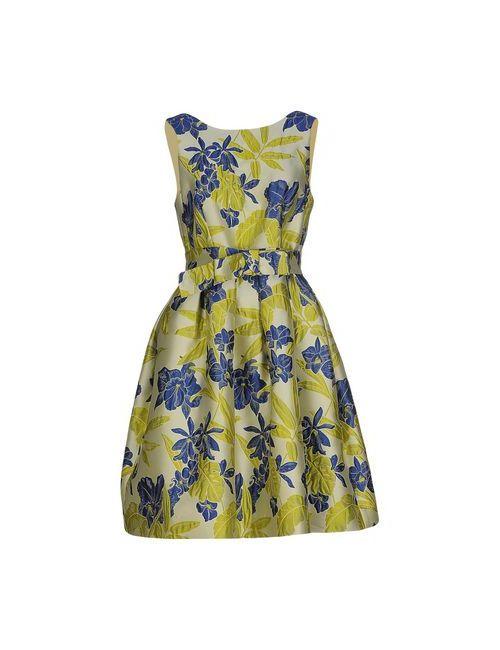 P.A.R.O.S.H. | Женское Зелёное Короткое Платье