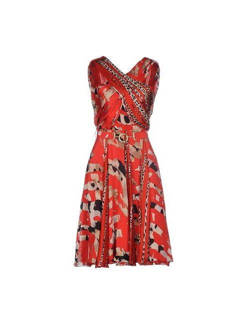 Blumarine | Женское Красное Платье До Колена