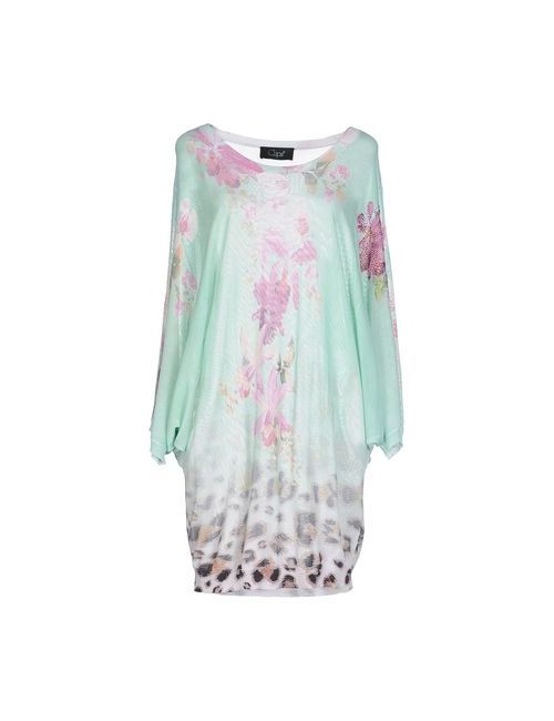 Clips | Женское Зелёное Короткое Платье
