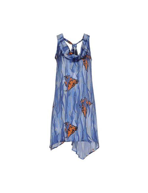 Clió | Женское Синее Короткое Платье
