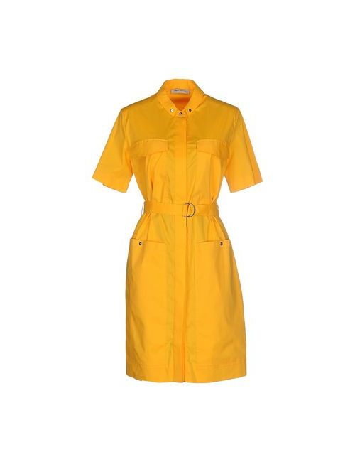 Angelo Marani | Женское Охра Короткое Платье