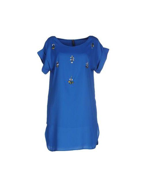 Manila Grace | Женское Синее Короткое Платье