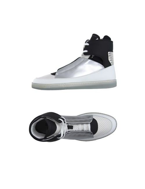 Dirk Bikkembergs Sport Couture | Мужские Белые Высокие Кеды И Кроссовки
