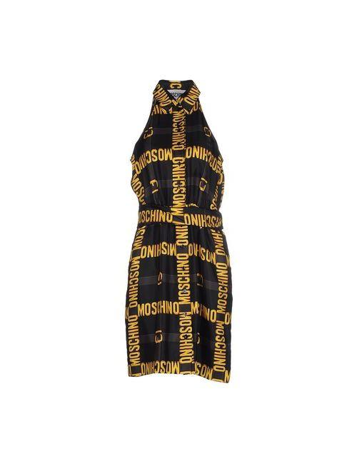 Moschino Couture | Женское Чёрное Платье До Колена