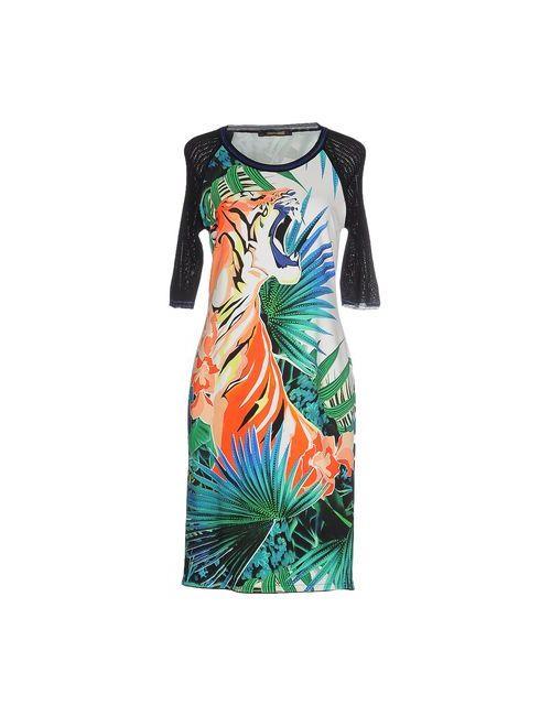 Roberto Cavalli | Женское Зелёное Короткое Платье