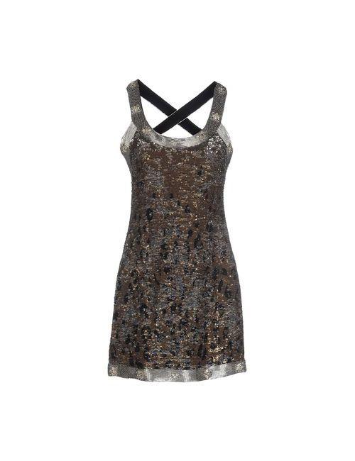 Roberto Cavalli | Женское Золотистое Короткое Платье