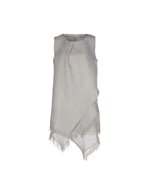 WEILI ZHENG | Женское Серое Короткое Платье