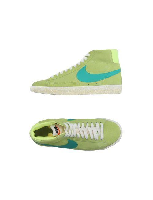 Nike | Мужские Зелёные Высокие Кеды И Кроссовки