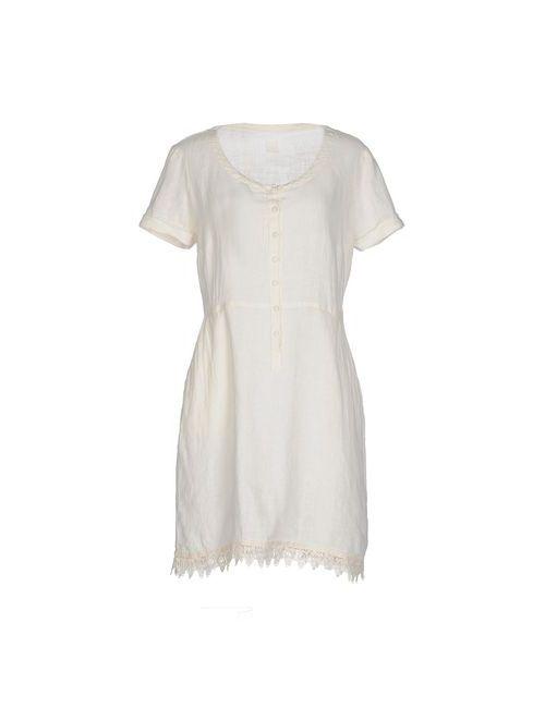 120% Lino | Женское Слоновая Костящее Короткое Платье