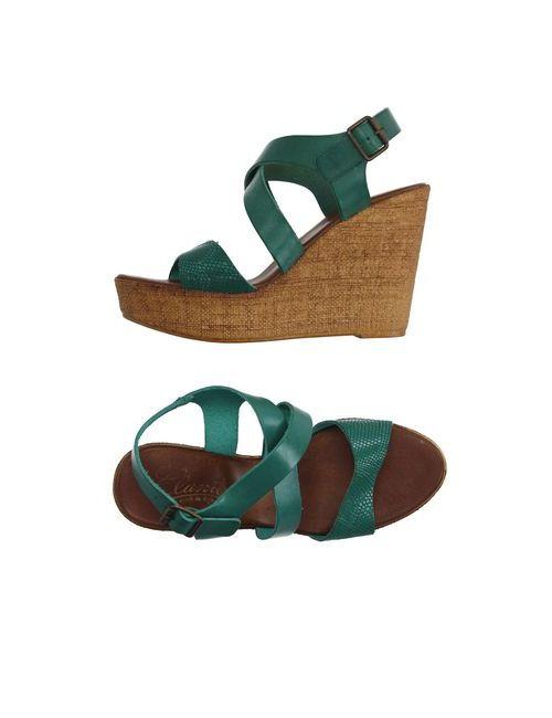 Clanto | Женские Зелёные Сандалии