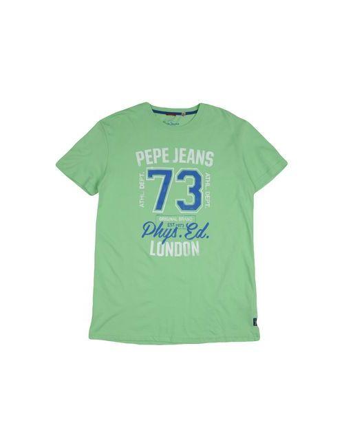 Pepe Jeans   Мужская Зелёная Футболка