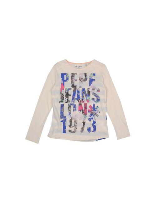 Pepe Jeans | Женская Слоновая Кость Футболка