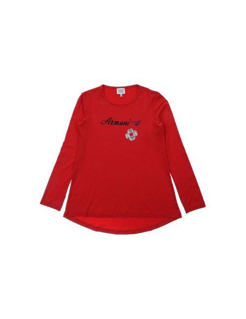 Armani Junior | Женская Красная Футболка