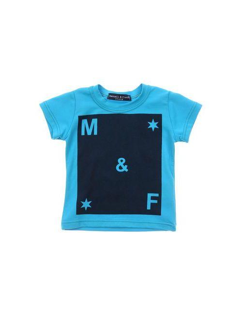 Manuell & Frank | Мужская Лазурная Футболка