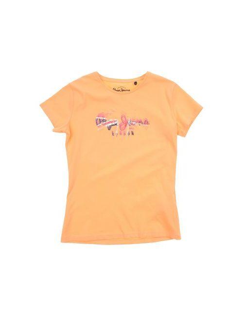 Pepe Jeans | Женская Розовая Футболка