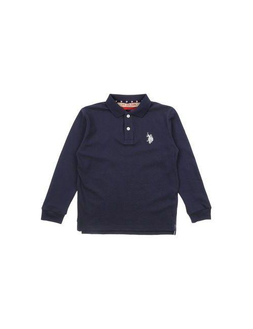 U.S. Polo Assn.   Мужское Синее Поло
