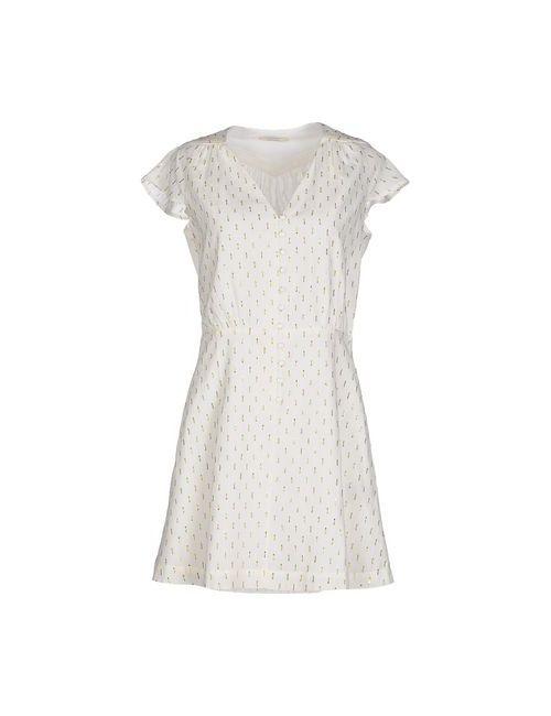 Sessun | Женское Белое Короткое Платье