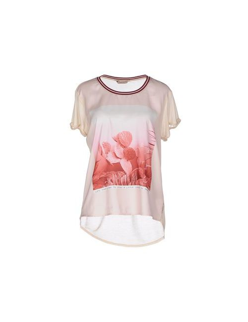 Maison Scotch | Женская Розовая Футболка