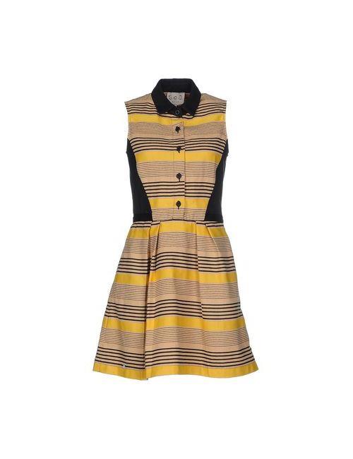 Sea | Женское Жёлтое Короткое Платье