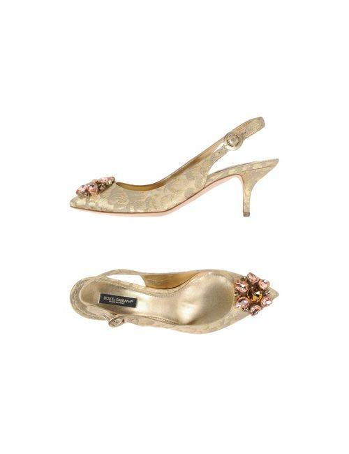 Dolce & Gabbana | Женские Платиновые Сандалии