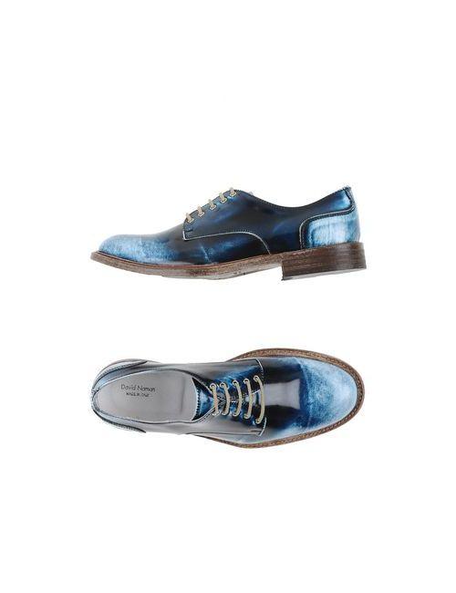DAVID NAMAN | Мужская Синяя Обувь На Шнурках