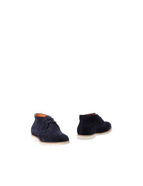 Santoni | Мужские Синие Полусапоги И Высокие Ботинки