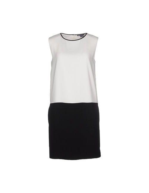 VINCE. | Женское Белое Короткое Платье
