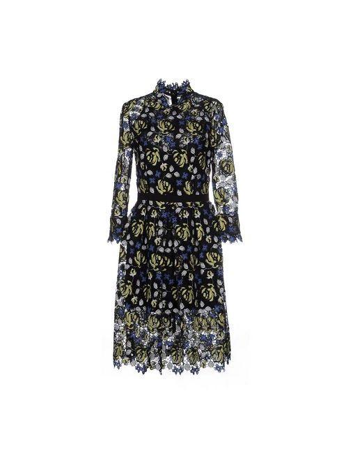 Erdem | Женское Чёрное Платье До Колена