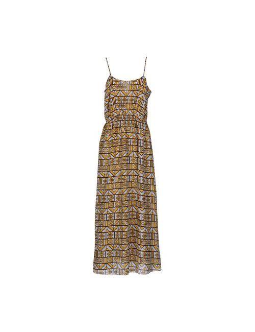 Woodwood | Женское Жёлтое Длинное Платье