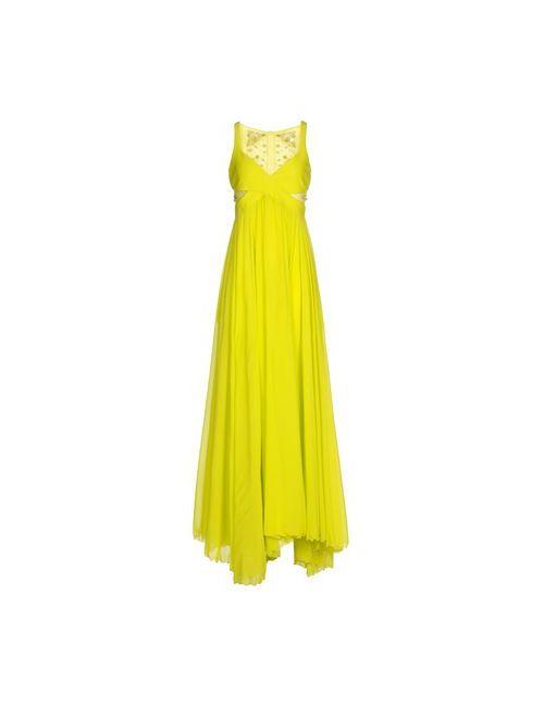 Pinko | Женское Зелёное Длинное Платье