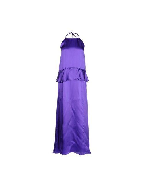 Stefanel | Женское Фиолетовое Длинное Платье