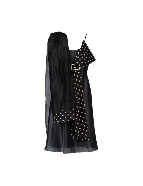 Musani Couture | Женское Черный Длинное Платье