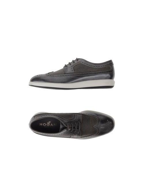 Hogan | Мужская Серая Обувь На Шнурках