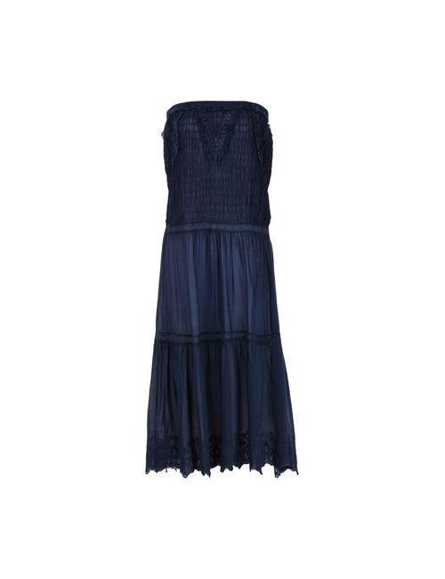 L' Autre Chose | Женское Синее Платье До Колена