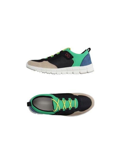 Dolce & Gabbana | Мужские Зелёные Низкие Кеды И Кроссовки