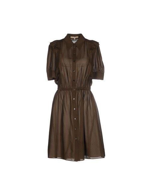 Michael Kors | Женское Зелёное Платье До Колена