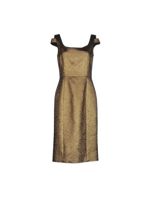 Michael Kors | Женское Песочное Платье До Колена