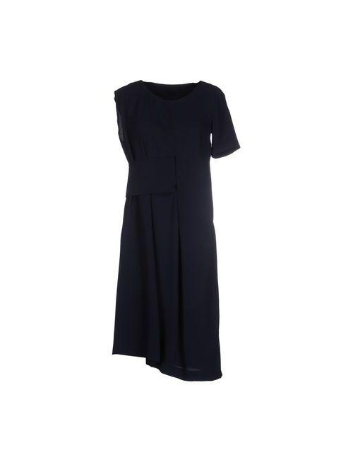 Maison Margiela | Женское Синее Платье До Колена